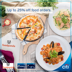 Citibank: Coupon Code for Up to 25% OFF Orders at FoodPanda