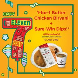 7-Eleven: Enjoy 1-for-1 Ready To Eat Butter Chicken Biryani at Chevron House