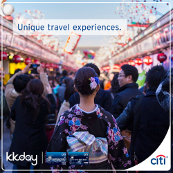 Citibank: 15% off selected travel experiences in Japan, Korea, Taiwan, Thailand, Australia, New Zealand and others with KKday