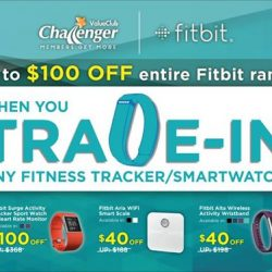 Challenger: Get up to $100 off the Fitbit range with trade-in