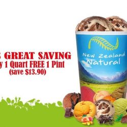 New Zealand Natural Café: Free Pint of Ice Cream with Every Quart Purchased