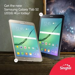 Singtel: Get the all-new Samsung Galaxy Tab S2 (2016) 4G+ from $0