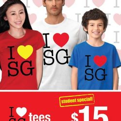 Giordano: Student Special for any I Love SG Tee at $15 Each