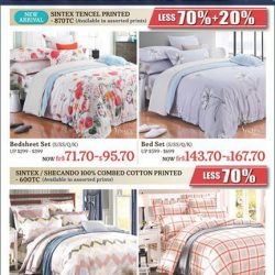 Homestyle: Sintex Bed Linen Sale Up to 70% OFF