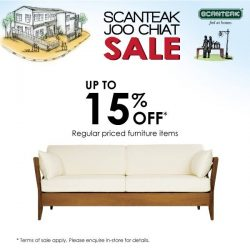 Scanteak: Joo Chiat Sale Up to 15% off regular priced furniture