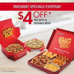 Pizza Hut: Coupon Code for $4 off your Double Box & Big Box orders via takeaway or self-collection order online