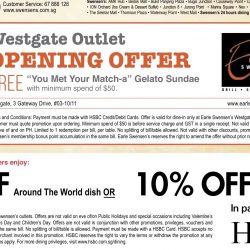 Swensens: Free Matcha Gelato Sundae at Westgate with HSBC Cards