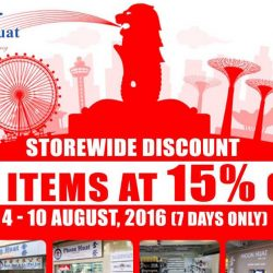 Phoon Huat: Storewide Sale at all outlets - 15% OFF all Items