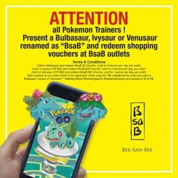 BsaB: Get Vouchers when you catch a Bulbasaur, Ivysaur or Venusaur