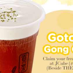 Gong Cha: FREE cup of GCM Brown Sugar Black Tea at New JCube Outlet