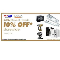 Selffix DIY: Coupon Code for 10% OFF Storewide at Lazada