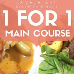 Saveur Art: Enjoy 1-for-1 Main Course for Dinner at ION Orchard