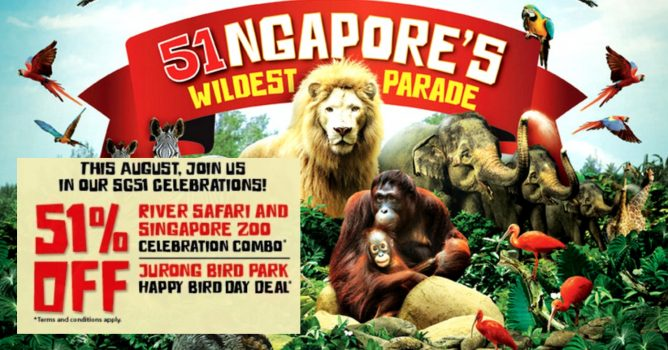 Celebrate the National Day by bringing your family or friends to the Singapore  Zoo and River Safari!