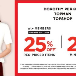 wt+: National Day Sale Up to 25% OFF Regular-Priced Items at Dorothy Perkins, Topman & Topshop