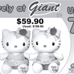 Giant: Save up to 70% on Hello Kitty Toys and Stationery