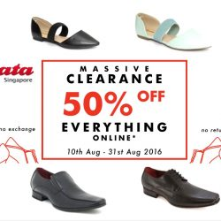 Bata: Massive Clearance Sale 50% OFF Everything Online