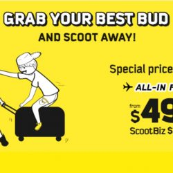 FlyScoot: Special Two-to-Go Fares from $49 to Bangkok, Hong Kong, Taipei, Seoul, Melbourne & more!