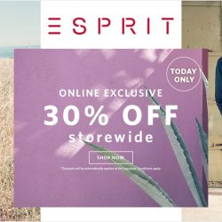 Esprit: One Day Only Online Exclusive 30% OFF Storewide Sale