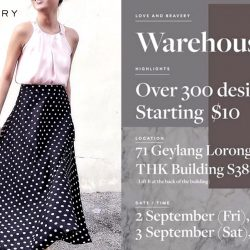 Love and Bravery: Warehouse Sale with Prices Starting from $10