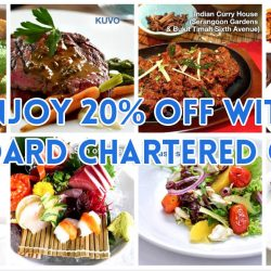 Standard Chartered Bank: Exclusive Weekday Dining Offers 20% OFF A La Carte Bill