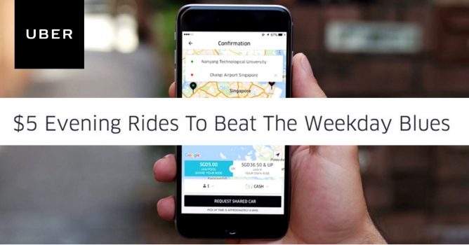 Uber: Promo Code for Weekdays $5 uberPOOL Rides to Anywhere in