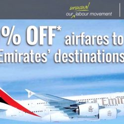 Emirates: 10% OFF Airfares to All Destinations including London, Paris & New York for NTUC Members