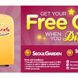 Seoul Garden: FREE Mini Fridge Giveaway with $80 Spend