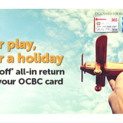 Tigerair: 20% OFF All-In Return Fares with OCBC Cards