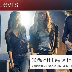 Samsung Galaxy Life: 30% OFF Levi's Tops and Jeans