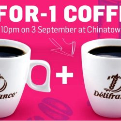 Delifrance: 1-for-1 Coffee at Chinatown Point for the Mid Autumn Festival Lights Up