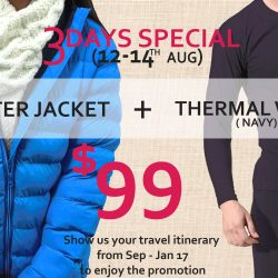 Universal Traveller: Winter Jacket & Thermal Wear Set at $99