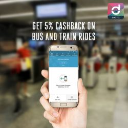 Singtel: Get 5% Cashback on Bus and Train Rides with Dash App