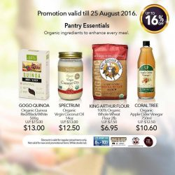 Cold Storage: Enjoy up to 16% off selected organic products