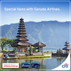 Citibank: Exclusive special fares to Indonesia, Japan, Korea, Australia and Europe with Airfares.com.sg