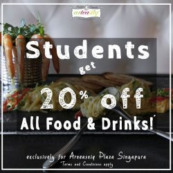 Arteastiq: Show us your student ID and get 20% OFF All Food and Drinks