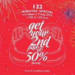 Bata: Enjoy 2nd Pair at 50% OFF on 9 August 2016