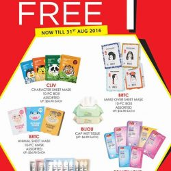 Sasa: Buy 5 Get 5 FREE Selected Masks