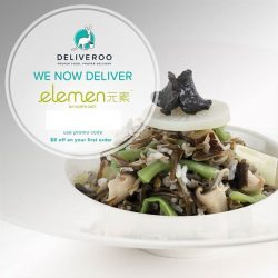 elemen: Coupon Code for $8 OFF Your First Deliveroo Order
