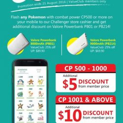 Challenger: Flash Your Pokemon and Enjoy up to $10 OFF Valore Powerbank