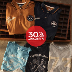 Timberland: Get 30% OFF apparel when you purchase a Singapore destination tee