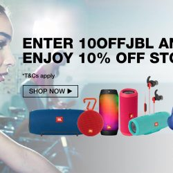 Lazada: Coupon Code for 10% OFF storewide at JBL