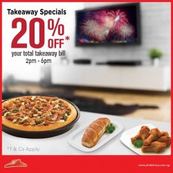 Pizza Hut: Get 20% off your Takeaway Bill