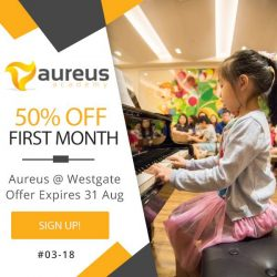 Aureus Academy: Get 50% off your first month at Westgate centre