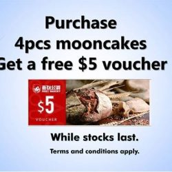 Duke Bakery: Purchase 4pcs mooncakes and Get a free $5 voucher