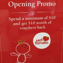 Hot Tomato Café & Grill: Spend a min. of $10 and get $10 worth of vouchers
