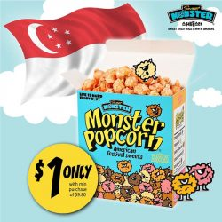Sweet Monster: Purchase min of $9.80 and get a box of popcorn for just $1