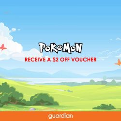 Guardian: Receive a $2 OFF Voucher when you catch an Orange Pokémon at VivoCity, NEX and Jurong Point Mall