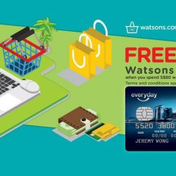 Watsons: FREE S$10 Watsons eVoucher with S$80 spend at Watsons eStore with POSB Everyday Card