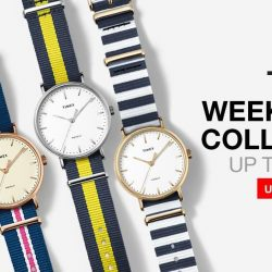 Lazada: Up to 22% off Timex Weekender Series + Extra 8% OFF with Coupon Code