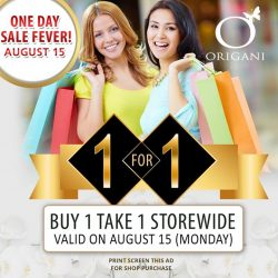 Organi: One Day Sale Buy 1 Get 1 FREE Storewide